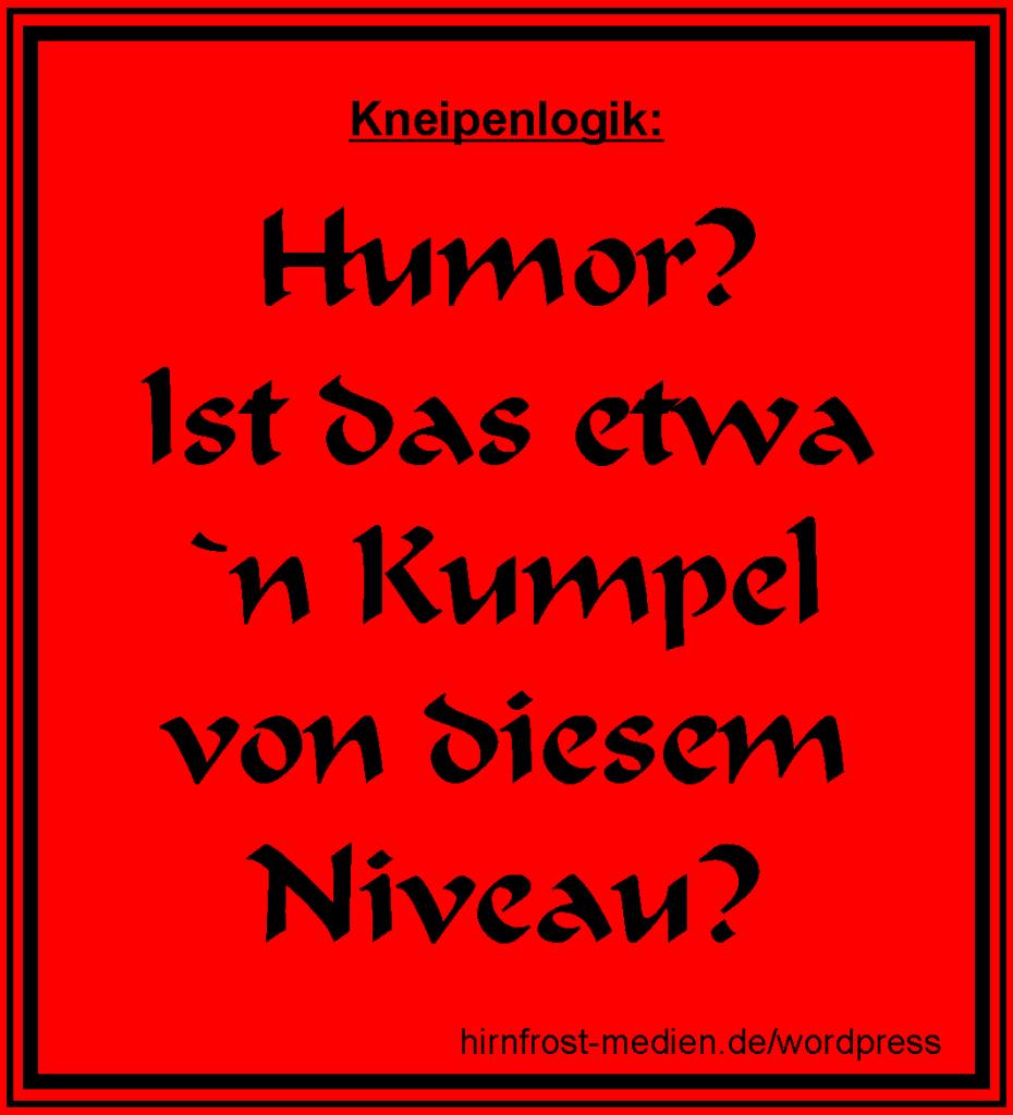 Niveauloser Humor